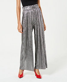 Be Bop Juniors' Pleated Metallic Pants