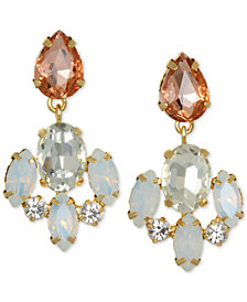 Jewel Badgley Mischka Gold-Tone Crystal & Stone Drop Earrings