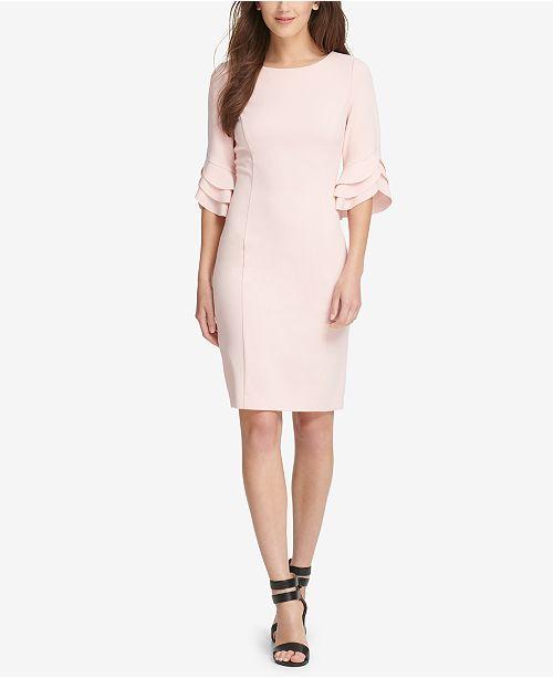 Triple Ruffle-Sleeve Dress, Created for Macy's