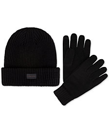 Calvin Klein Men's Hat & Glove Set, Created for Macy's