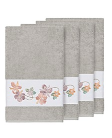 Caroline 4-Pc. Embroidered Turkish Cotton Bath Towel Set
