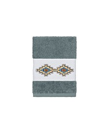 Gianna Embroidered Turkish Cotton Washcloth