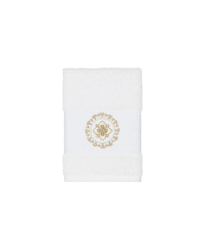 Linum Home - Isabelle Embroidered Turkish Cotton Washcloth