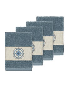 Isabelle 4-Pc. Embroidered Turkish Cotton Washcloth Set