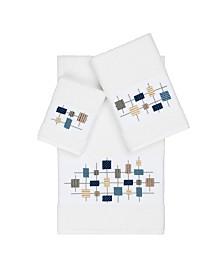 Linum Home Khloe 3-Pc. Embroidered Turkish Cotton Towel Set