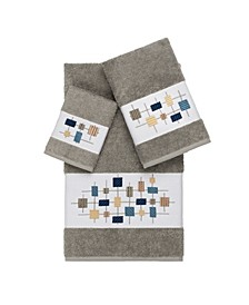 Khloe 3-Pc. Embroidered Turkish Cotton Towel Set