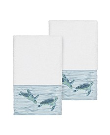 Mia 2-Pc. Embroidered Turkish Cotton Hand Towel Set