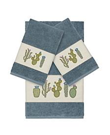 Mila 3-Pc. Embroidered Turkish Cotton Bath and Hand Towel Set