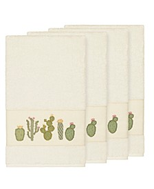Mila 4-Pc. Embroidered Turkish Cotton Bath Towel Set