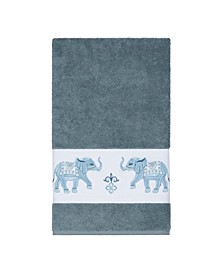 Quinn Embroidered Turkish Cotton Bath Towel