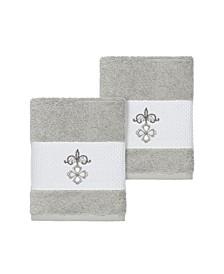 Quinn 2-Pc. Embroidered Turkish Cotton Washcloth Set