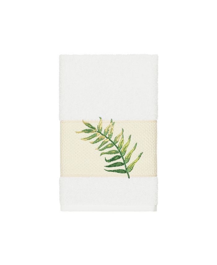 Linum Home - Zoe Embroidered Turkish Cotton Hand Towel