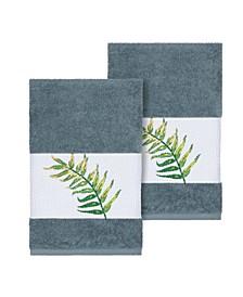 Zoe 2-Pc. Embroidered Turkish Cotton Hand Towel Set