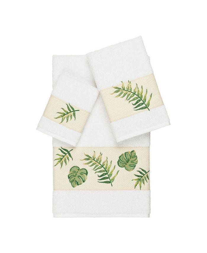 Linum Home - Zoe 3-Pc. Embroidered Turkish Cotton Towel Set