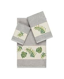 Zoe 3-Pc. Embroidered Turkish Cotton Towel Set