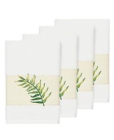 Zoe 4-Pc. Embroidered Turkish Cotton Hand Towel Set