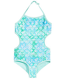 Summer Crush Toddler Girls 1-Pc. Printed Monokini Swimsuit