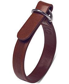 Kenneth Cole Reaction Men's Faux-Leather Bracelet