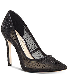 Jessica Simpson Prianne Embellished Mesh Pumps