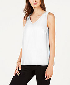 Alfani Sleeveless V-Neck Top, Created for Macy's