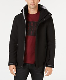 A|X Armani Exchange Men's Logo-Cuff Hooded Jacket