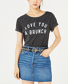 Love Tribe Juniors' Love Brunch Graphic-Print T-Shirt