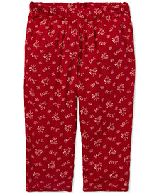 Polo Ralph Lauren Baby Girls Floral-Print Terry Pants