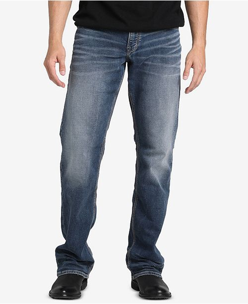 Silver Jeans Co. Men's Zac Straight Leg, Relaxed-Fit Stretch Jeans