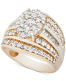Diamond Oval Cluster Ring (2 ct. t.w.) Ring in 10k Gold