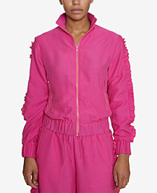 INSPR Natalie Off Duty Ruffle Track Jacket, Created for Macy's