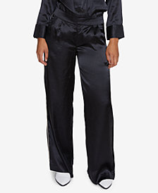 INSPR Natalie Off Duty Striped Satin Pants, Created for Macy's