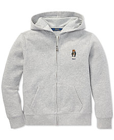 Polo Ralph Lauren Little Boys Full-Zip Polo Bear Hoodie