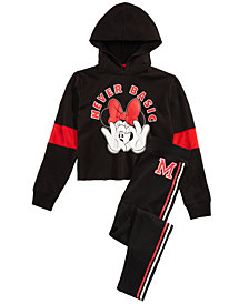 Disney Big Girls Minnie Mouse Hoodie & Leggings