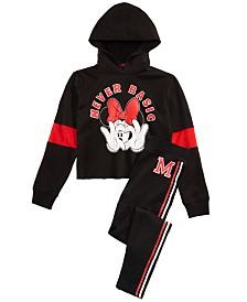 Disney Big Girls Minnie Mouse Hoodie & Leggings