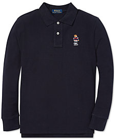 Polo Ralph Lauren Big Boys Hockey Bear Long-Sleeve Cotton Polo