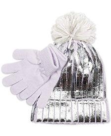 Love 2 Design Little Girls 2-Pc. Metallic Hat & Gloves Set