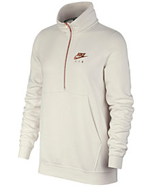 Nike Sportswear Air Metallic-Logo Half-Zip Fleece Top