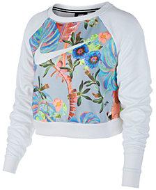 Nike Sportswear Ultra-Femme Floral-Print Cropped Top