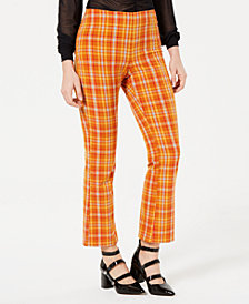 GUESS Plaid Kick Flare Pant