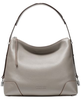 michael kors crosby pebble leather shoulder bag handbags rh macys com
