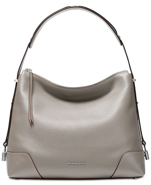 da681198e7a64 Michael Kors Crosby Pebble Leather Shoulder Bag   Reviews - Handbags ...