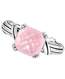 Rose Quartz Ring (4 ct. t.w.) in Sterling Silver