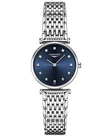 Women's Swiss La Grande Classique de Longines Diamond-Accent Stainless Steel Bracelet Watch 24mm