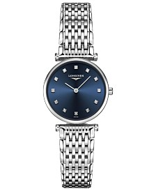 Longines Women's Swiss La Grande Classique de Longines Diamond-Accent Stainless Steel Bracelet Watch 24mm