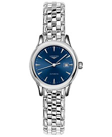 Longines Women's Swiss Automatic Flagship Stainless Steel Bracelet Watch 30mm