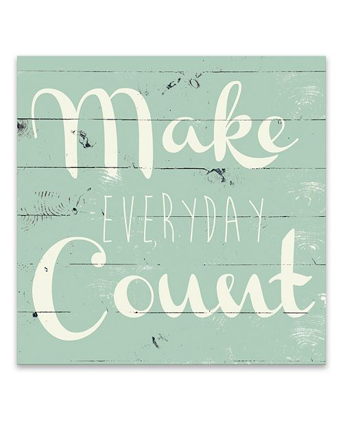 "Artissimo Designs Make Everyday Count Printed Canvas Art - 16"" W x 16"" H x 1.25"" D"