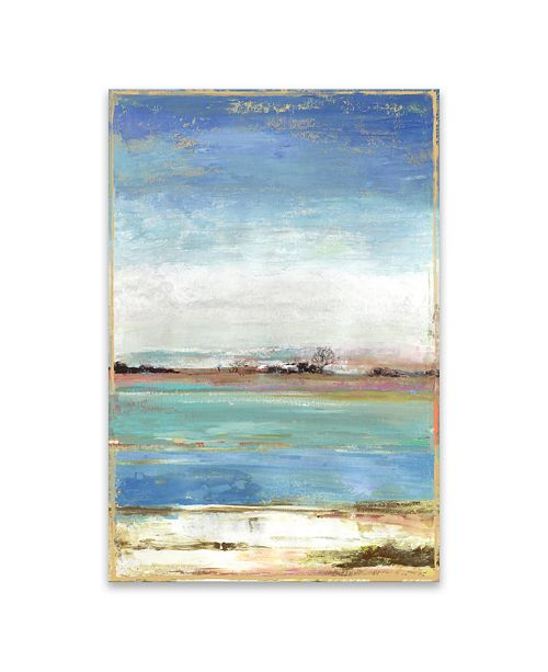 Artissimo Designs Waterfront l Hand Embellished Canvas