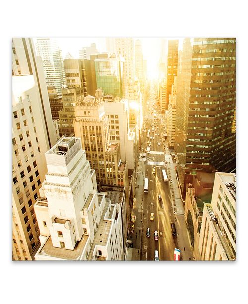 """Artissimo Designs View Of Fifth Avenue Framed Printed Canvas Art - 30.875"""" W x 30.875"""" H x 2"""" D"""