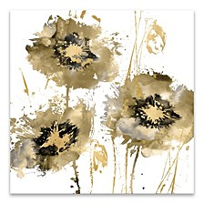 "Flower Burst Hand Embellished Canvas Art - 30"" W x 30"" H x 1.5"" D"