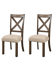 Francis Wooden Side Chair Set